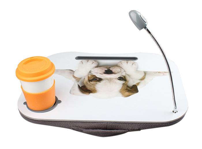 New Portable Cute Dog Laptop Lap Desk w/LED Light Drink Holder Foam Cushion eBay