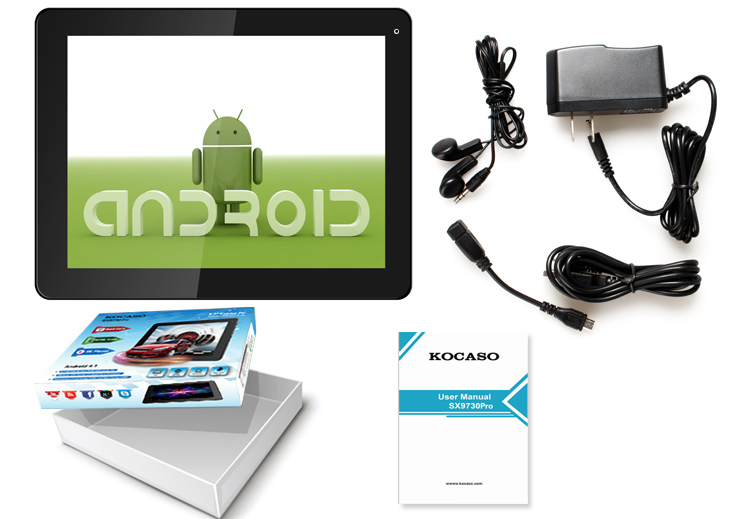 """Details about Kocaso Tablet Quad Core 9.7"""" 16 GB Android 4.1 2048x1536"""