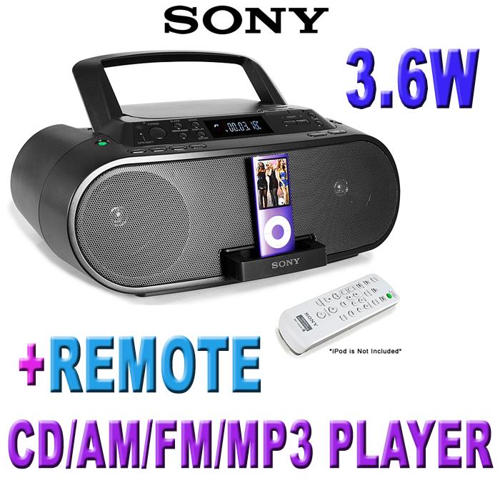 SONY-ZS-S2IP-iPod-DOCK-BOOMBOX-CD-AM-FM-MP3-w-REMOTE